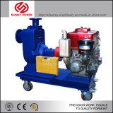 6inch de zelfPomp van het Water van de Instructie voor Mijnbouw/Irrigatie met Vierwielige Aanhangwagen