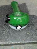 Pipe chaude en verre de main de Pokemon avec un vert plus rouge de prix de gros