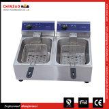 Gloednieuwe Commerciële 20L Dubbele Elektrische TweelingPan 2 X 10L Benchtop van de Frituurpan