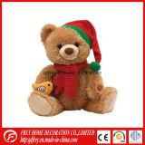 Brinquedo do bebê de Brown do luxuoso da camisa de T do urso da peluche