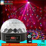 DMX512 LED 매직 볼 라이트 Rgbywp 원격 제어와 함께 디스코 DJ 라이트를 LED