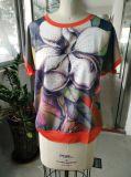 Одежды тенниски женщин хлопка печатание цветка способа лета самые последние