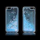 Da caixa macia do telefone do retrato caixa líquida TPU da mistura para o iPhone 7 para a galáxia J3/J7/J2 de Samsung