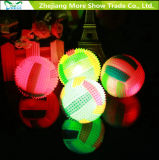 Licht op Stuk speelgoed van de Jonge geitjes van de Ballen van de Egel van het Volleyball het Klinkende Opvlammende Stuiterende