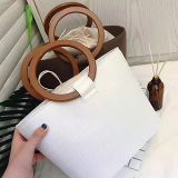 De populaire Handtas van het Stro van de Zomer voor Zak van Shoudler van het Strand van de Vrouwen van de Producten van Dames de Hete Trendy met het Handvat Sh137 van de Cirkel