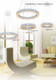 Ein modernes hängendes acrylsauerlicht der Ring-weißes Farben-LED (AQ66057-40)