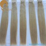 Индийским уток человеческих волос волос Remy девственницы нарисованный двойником