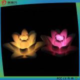 Luz de controle remoto da decoração do diodo emissor de luz da cera da forma da flor