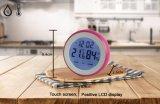 Temporizador de cozinha digital com tela de toque com temperatura úmida