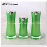 Bottiglia senz'aria di alluminio trasparente della pompa