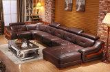 Sofà di cuoio classico del sofà del salone moderno della mobilia (UL-NS062)