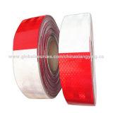 Rotes und weißes PVC/Pet reflektierendes Band für Straßen-WARNING