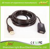 USB de alta velocidad a la extensión de cable del USB con el repetidor activo