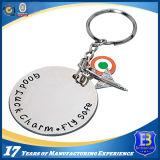 Keychain de prata brilhante feito sob encomenda para a promoção (ELE-K160)