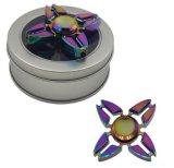 Kleurrijke Stijl 4 van de Buigtang van de Krab van de Regenboog het Metaal van Bladeren friemelt EDC Handspinner van de Gyroscoop van de Spinner van de Vingertop van de Hand van het Speelgoed van de Spinner van de Vinger Bureau