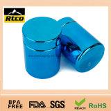 Frasco plástico com boa qualidade e colorido de cromagem