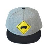 Изготовленный на заказ серым вышитый хлопком шлем крышки Snapback