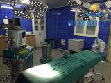 سقف وحيد رئيسيّة طبّيّ عديم ظلّ يشغل مصابيح [لد] أضواء جراحيّة لأنّ عمليّة بيع