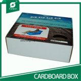 Bフルートプラスチックハンドルが付いている折り畳み式ボール箱の紙箱を波形を付けた