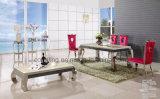A8051ステンレス鋼の大理石のダイニングテーブルの舞台装置の基本料金