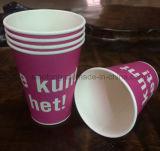 alta calidad de la impresión del cliente de las tazas de papel 7oz