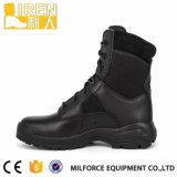 Полиций армии неподдельной кожи ботинок воинских тактический
