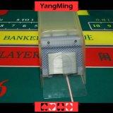 8 sapatas acrílicas do negociante do cartão de jogo de Lunceny da plataforma/sapata acrílica desobstruída transparente do negociante do póquer