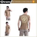 最上質の屋外の余暇の戦術的で速い乾燥した短いスリーブを付けられたTシャツ