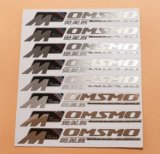 Étiquette faite sur commande en métal de produits de beauté de la Chine avec le prix bon marché