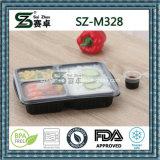 Recipiente Leakproof da caixa de almoço de Bento de 3 compartimentos