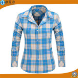 Рубашек женщин втулки кофточки хлопка фабрики кофточка печатание длинних вскользь