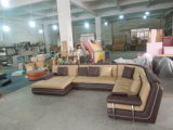 Sofá da mobília da sala de visitas com o sofá de canto de couro