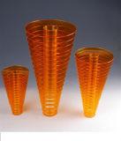 Vase à fleur acrylique de luxe fait sur commande