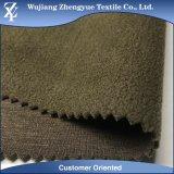 TPU 3 capas de la mezcla del poliester del estiramiento de la tela de Softshell con la vinculación del paño grueso y suave