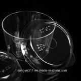 Bol en plastique transparent de haute qualité en PVC avec couvercle