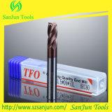 Molino de extremo de la fresa del carburo de tungsteno para el acero