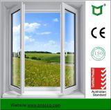 Moderner Entwurfs-Aluminiumprofil-Flügelfenster-Fenster mit ausgeglichenem Glas