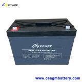 50%Dod 1500cycle cale la batterie 12V100ah (HTL12-100AH) de gel de longue vie
