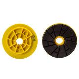 Type neuf 4 roue de polissage de bord de résine d'opérations pour le granit et le marbre