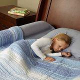 سرير مصدّ [مومري] زبد تغطية [وتر-رسستنت] لأنّ جدي - أمان جانب وسادة كتل