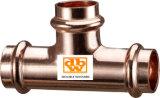 Kupfer-V-Profil-T-Stück - Reduzierte Ast