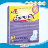 Sonnige Mädchen-gesundheitliche Auflage-gesundheitliche Servietten