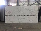 Изготовленный на заказ белый Countertop камня кварца Calacatta искусственний для кухни