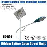 Luz de calle solar aprobada del Ce IP65 los 7m 30W LED