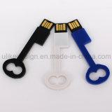 Movimentação plástica do flash do USB da forma chave barata (UL-P015-02)