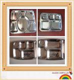 Plateau d'aliments de préparation rapide d'acier inoxydable/plateau de casse-croûte avec la qualité