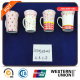 Canecas cerâmicas do copo Ec-Amigável feito sob encomenda grande do leite da porcelana