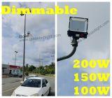 100-277VAC 5 anos de garantia Dimmable com luz de inundação BRITÂNICA 200W do diodo emissor de luz do plugue da UE dos EUA do Au