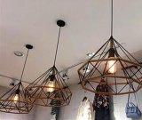El cáñamo cuerda y forma del diamante moderna Cafetería decorativo pendientes de la lámpara