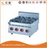 Sc-4. Газовая плита горелок рекламы 4 r с нержавеющей сталью